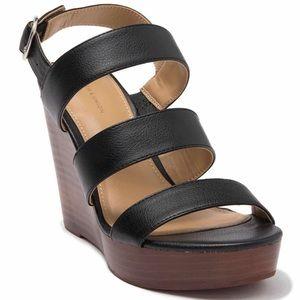 14th & Union Narissa Slingback Wedge Sandal Black